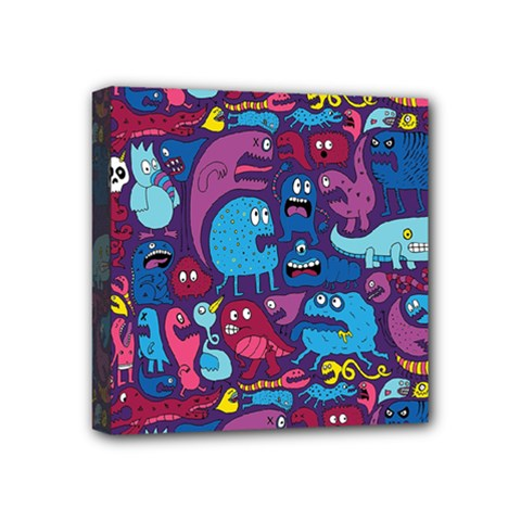 Mo Monsters Mo Patterns Mini Canvas 4  X 4