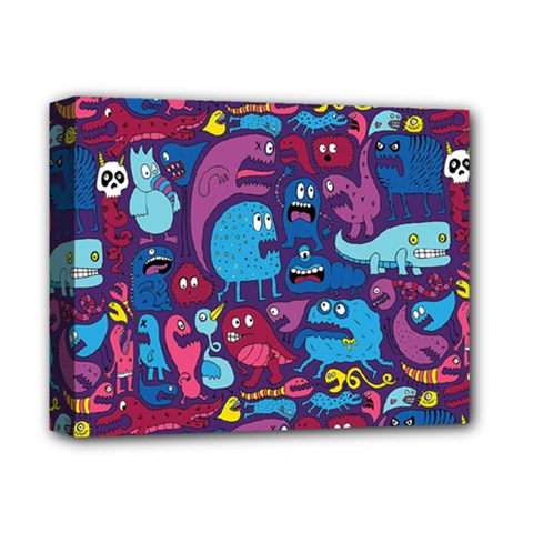 Mo Monsters Mo Patterns Deluxe Canvas 14  X 11