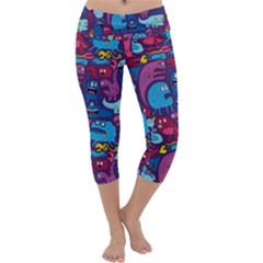 Mo Monsters Mo Patterns Capri Yoga Leggings
