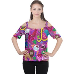 Pattern Monsters Women s Cutout Shoulder Tee