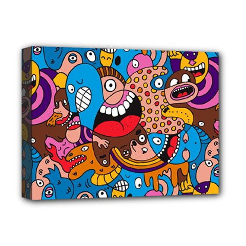People Face Fun Cartoons Deluxe Canvas 16  X 12