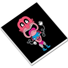 Red Cartoons Face Fun Small Memo Pads by AnjaniArt