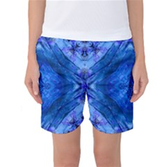 Boho Bohemian Hippie Tie Dye Cobalt Women s Basketball Shorts by CrypticFragmentsDesign