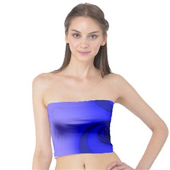 Blue Spiral Note Tube Top by CrypticFragmentsDesign
