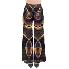 Golden Metallic Abstract Modern Art Pants by CrypticFragmentsDesign