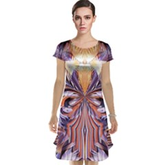 Fire Goddess Abstract Modern Digital Art  Cap Sleeve Nightdress by CrypticFragmentsDesign