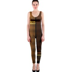 Metallic Geometric Abstract Urban Industrial Futuristic Modern Digital Art Onepiece Catsuit