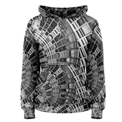 Semi Circles Abstract Geometric Modern Art Women s Pullover Hoodie by CrypticFragmentsDesign