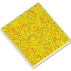 Yellow Abstract Art Small Memo Pads by Valentinaart