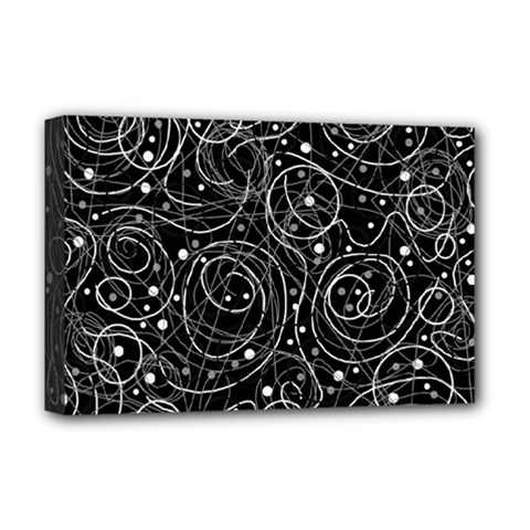 Black And White Magic Deluxe Canvas 18  X 12   by Valentinaart