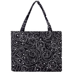Black And White Magic Mini Tote Bag by Valentinaart
