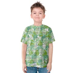 Gray Decorative Abstraction Kids  Cotton Tee by Valentinaart