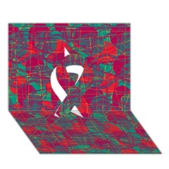 Decorative Abstract Art Ribbon 3d Greeting Card (7x5) by Valentinaart