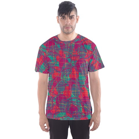 Decorative Abstract Art Men s Sport Mesh Tee by Valentinaart