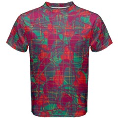 Decorative Abstract Art Men s Cotton Tee by Valentinaart
