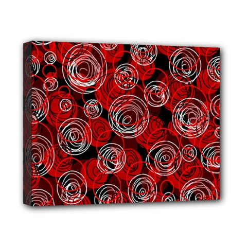 Red Abstract Decor Canvas 10  X 8  by Valentinaart
