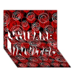 Red Abstract Decor You Are Invited 3d Greeting Card (7x5) by Valentinaart