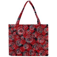 Red Abstract Decor Mini Tote Bag