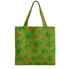 Green Decorative Art Grocery Tote Bag by Valentinaart