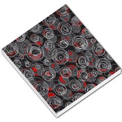 Red And Gray Abstract Art Small Memo Pads
