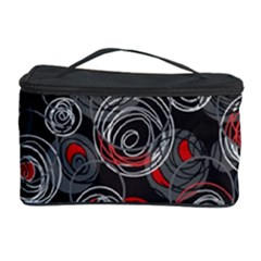 Red And Gray Abstract Art Cosmetic Storage Case