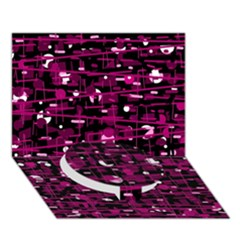 Magenta Abstract Art Circle Bottom 3d Greeting Card (7x5) by Valentinaart