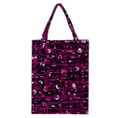 Magenta Abstract Art Classic Tote Bag by Valentinaart