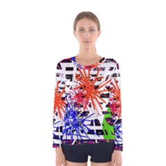Colorful Big Bang Women s Long Sleeve Tee by Valentinaart