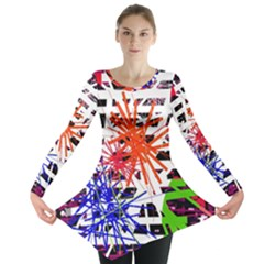 Colorful Big Bang Long Sleeve Tunic  by Valentinaart