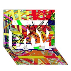 Colorful Abstraction By Moma Boy 3d Greeting Card (7x5)