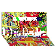 Colorful Abstraction By Moma Believe 3d Greeting Card (8x4) by Valentinaart