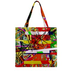 Colorful Abstraction By Moma Grocery Tote Bag by Valentinaart