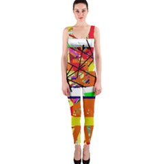 Colorful Abstraction By Moma Onepiece Catsuit by Valentinaart