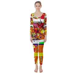 Colorful Abstraction By Moma Long Sleeve Catsuit by Valentinaart