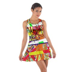 Colorful Abstraction By Moma Cotton Racerback Dress by Valentinaart