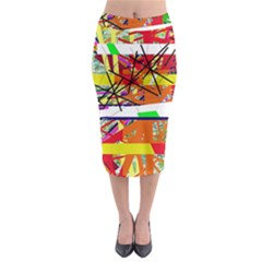 Colorful Abstraction By Moma Midi Pencil Skirt by Valentinaart