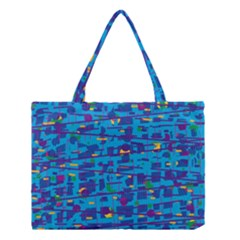 Blue Decorative Art Medium Tote Bag by Valentinaart