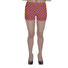 Vibrant Retro Diamond Pattern Skinny Shorts by DanaeStudio