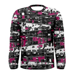 Magenta, White And Gray Decor Men s Long Sleeve Tee