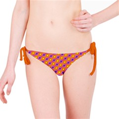 Vibrant Retro Diamond Pattern Bikini Bottom by DanaeStudio
