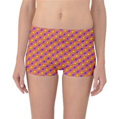 Vibrant Retro Diamond Pattern Boyleg Bikini Bottoms by DanaeStudio