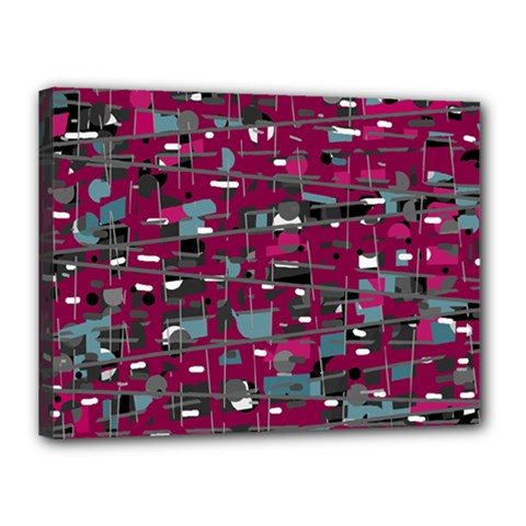 Magenta Decorative Design Canvas 16  X 12  by Valentinaart