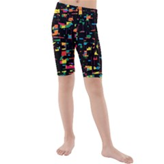 Playful Colorful Design Kids  Mid Length Swim Shorts by Valentinaart
