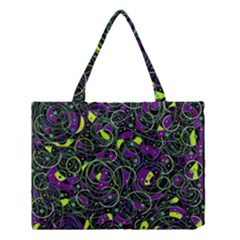 Purple And Yellow Decor Medium Tote Bag by Valentinaart