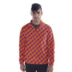 Vibrant Retro Diamond Pattern Wind Breaker (men) by DanaeStudio