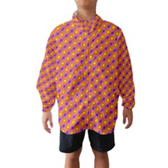 Vibrant Retro Diamond Pattern Wind Breaker (kids) by DanaeStudio