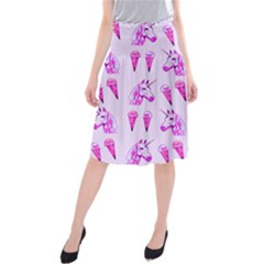 Unicorns & Icecreams In Mallow Wildflower Midi Beach Skirt