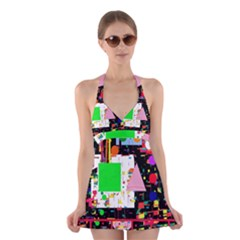 Colorful Facroty Halter Swimsuit Dress by Valentinaart