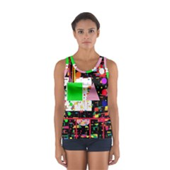 Colorful Facroty Women s Sport Tank Top  by Valentinaart