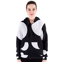 Black And White Moonlight Women s Zipper Hoodie by Valentinaart